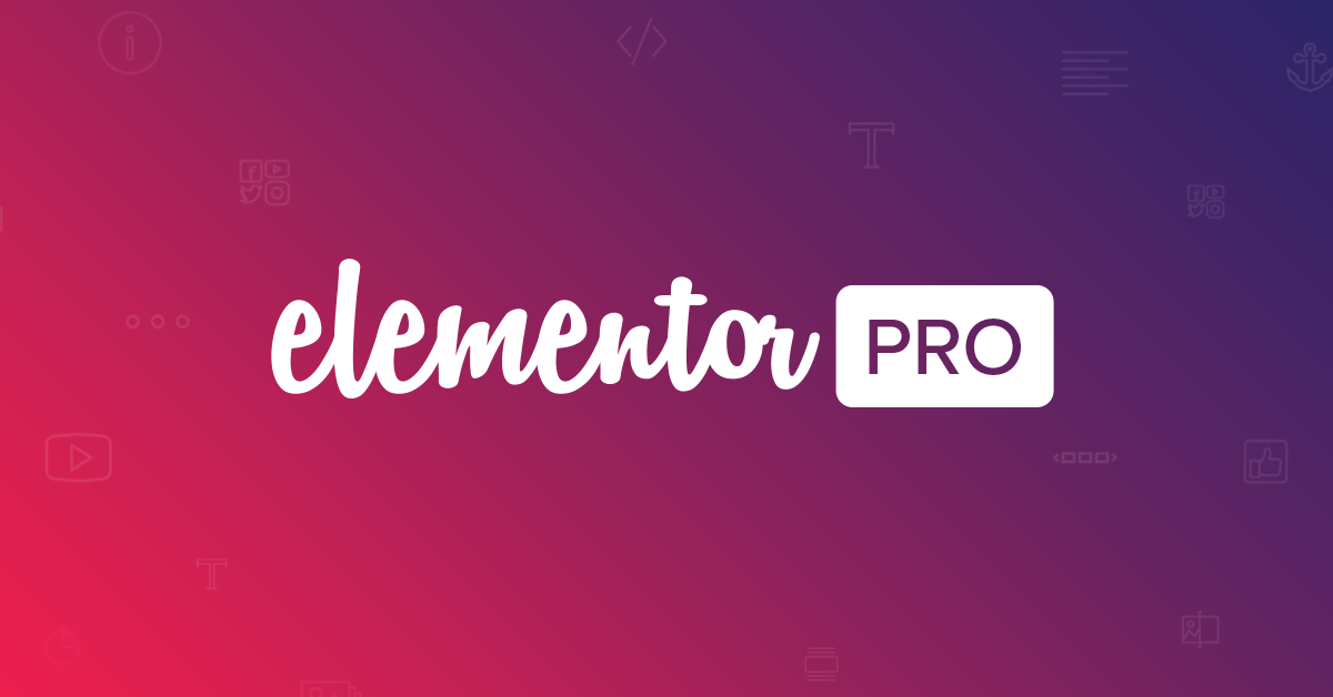 A detailed view of Elementor pro